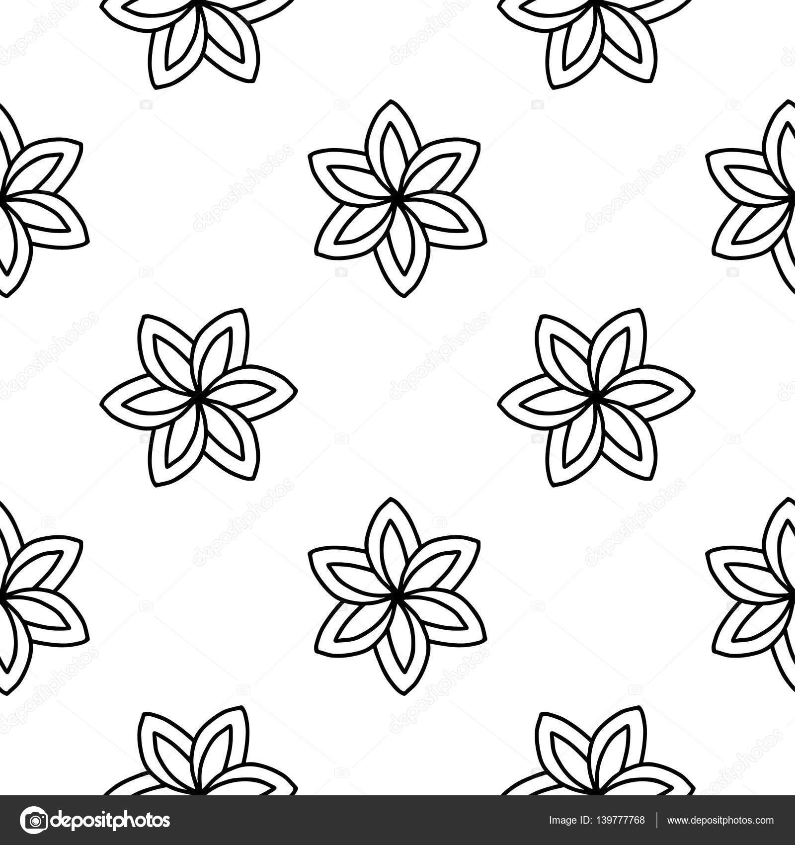 Boyama Kitabı Doodle Vektör çiçek Deseni Stok Vektör Helenf