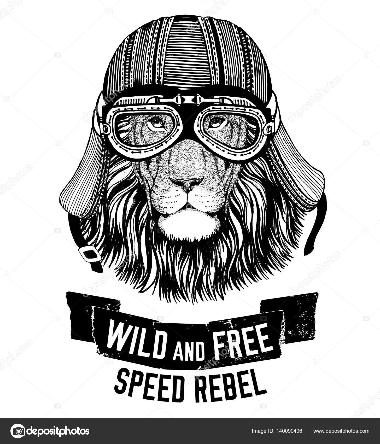 Design t shirt free - Wild Tiger Wild Cat Be Wild And Free T Shirt Emblem Template Biker Motorcycle Design Hand Drawn Image Photo By Helen_f