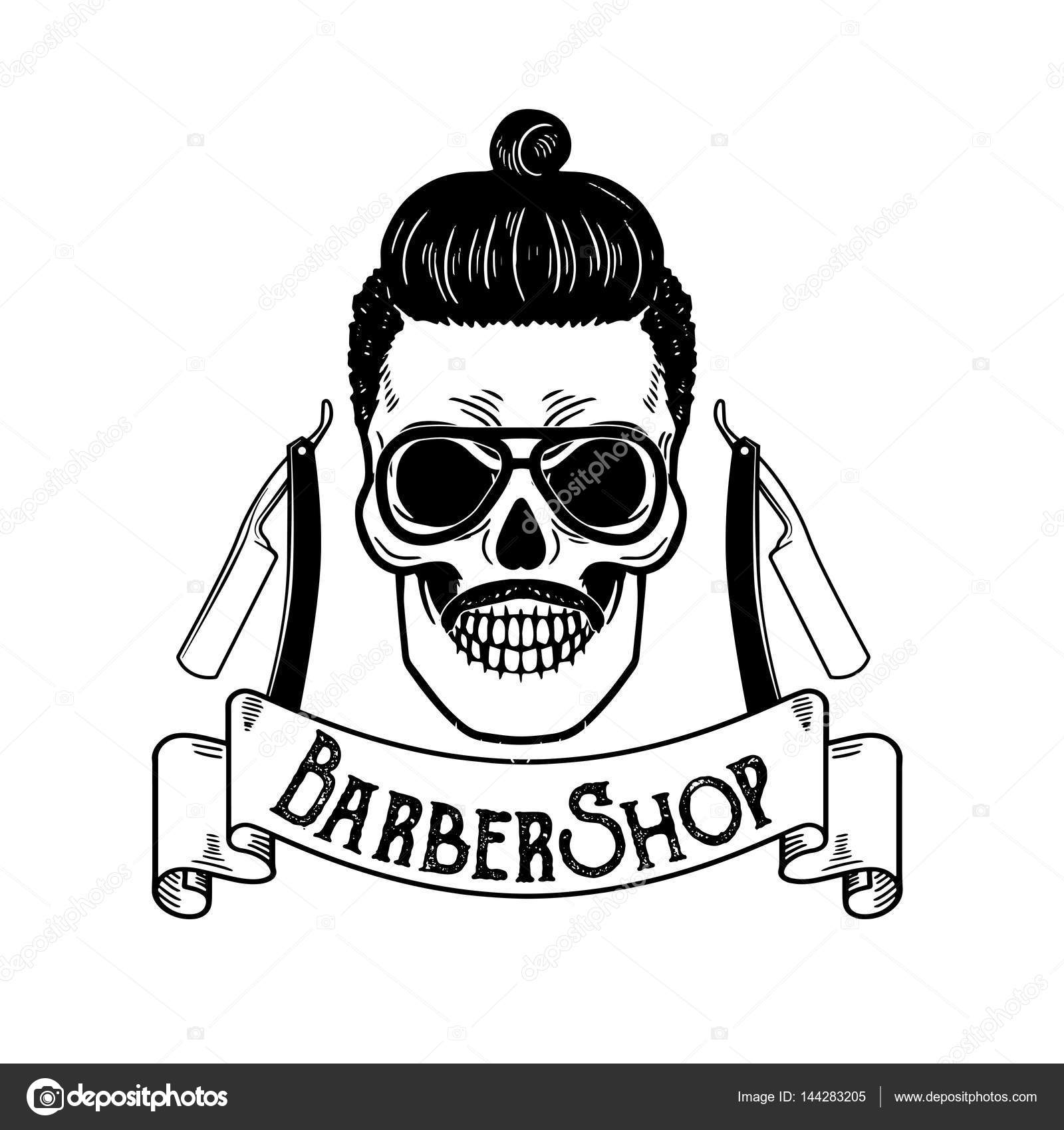 Vector Barbershop emblem, barbershop logo or badge for ...