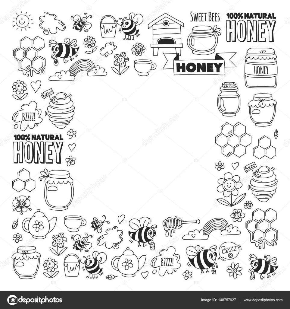 Tatlım Pazar çarşı Tatlım Adil Doodle Görüntüleri Arılar çiçekler