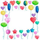 party-einladung-rahmen mit ballons — stockfoto #2941958, Einladungen