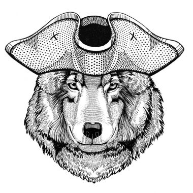 Wolf Dog pirate hat Cocked hat, tricorn Sailor, seaman, mariner, or seafarer