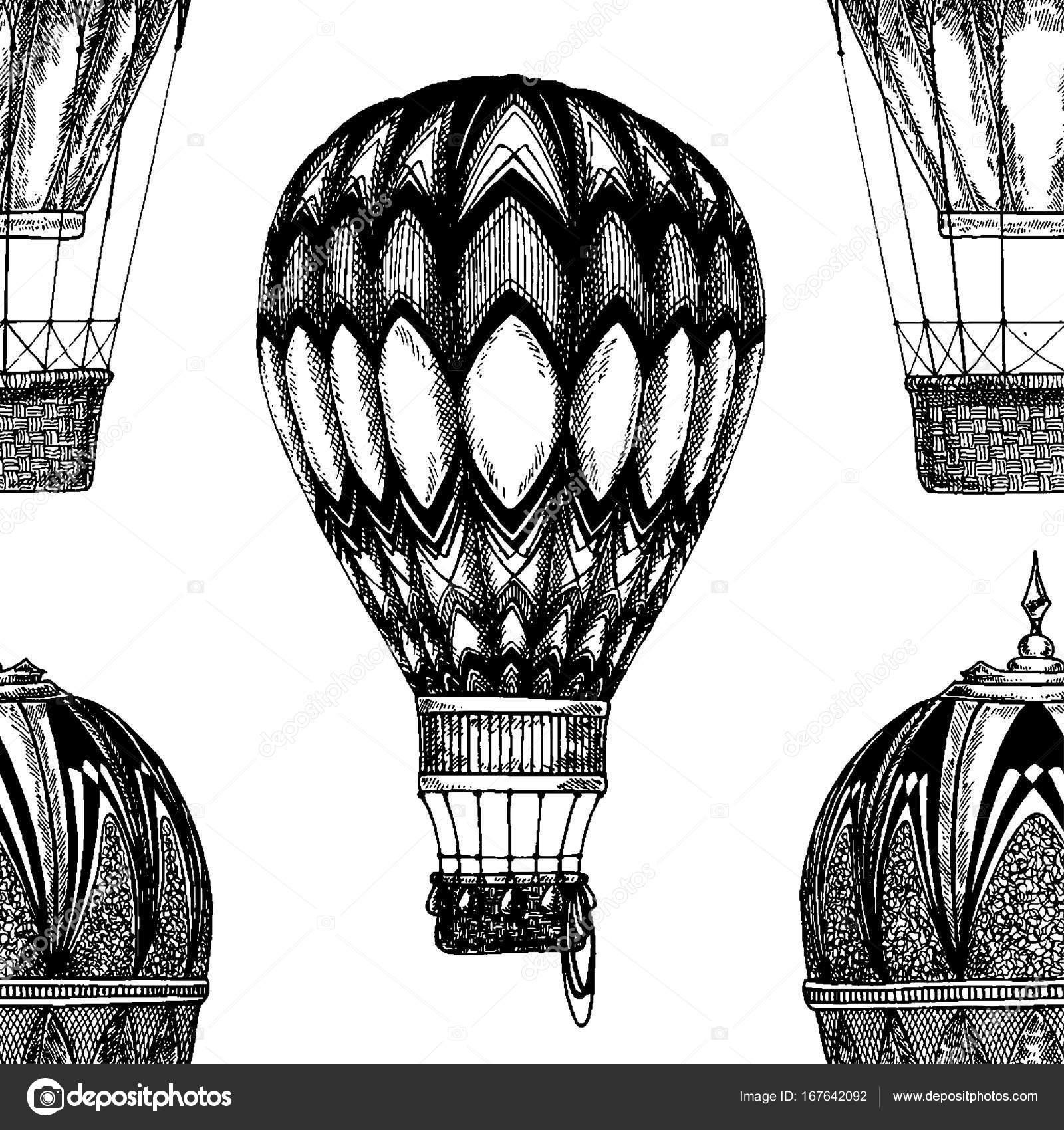Vintage balloon Vector image on blackboard Chalk Illustration ...