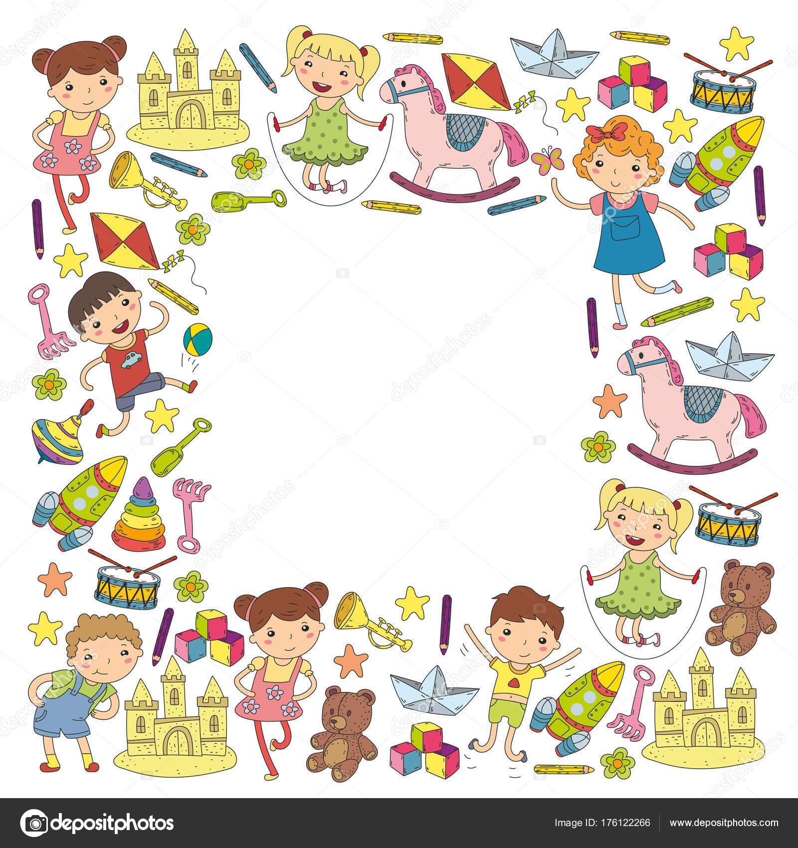 kindergarten nursery preschool school education with children doodle