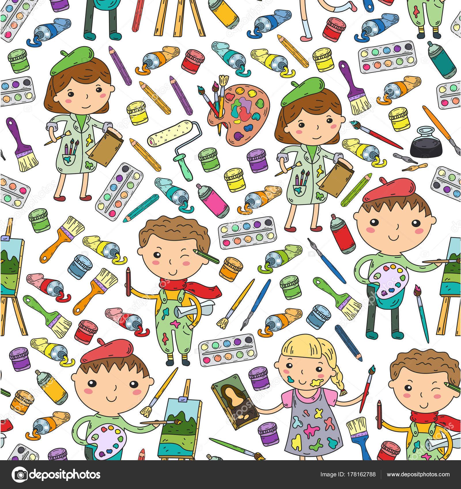 Favoriete Kinderen creativiteit kleuterschool, school kunst jongens en &UO84