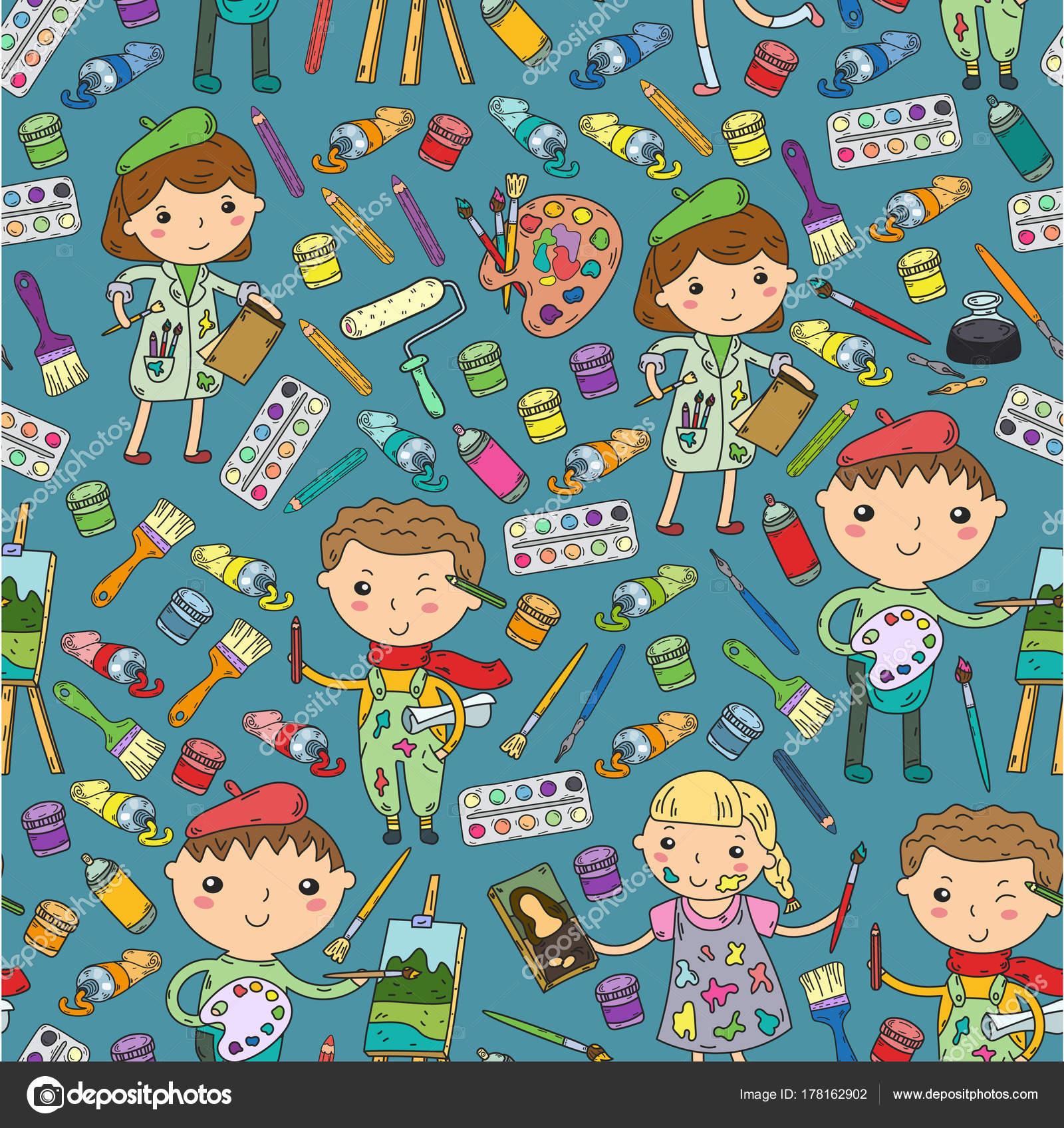 Bekend Kinderen creativiteit kleuterschool, school kunst jongens en &NP49