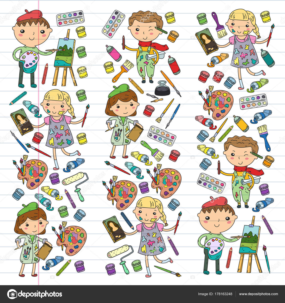 Kreativitat Der Kinder Kindergarten Schule Kunst Jungen Und Madchen