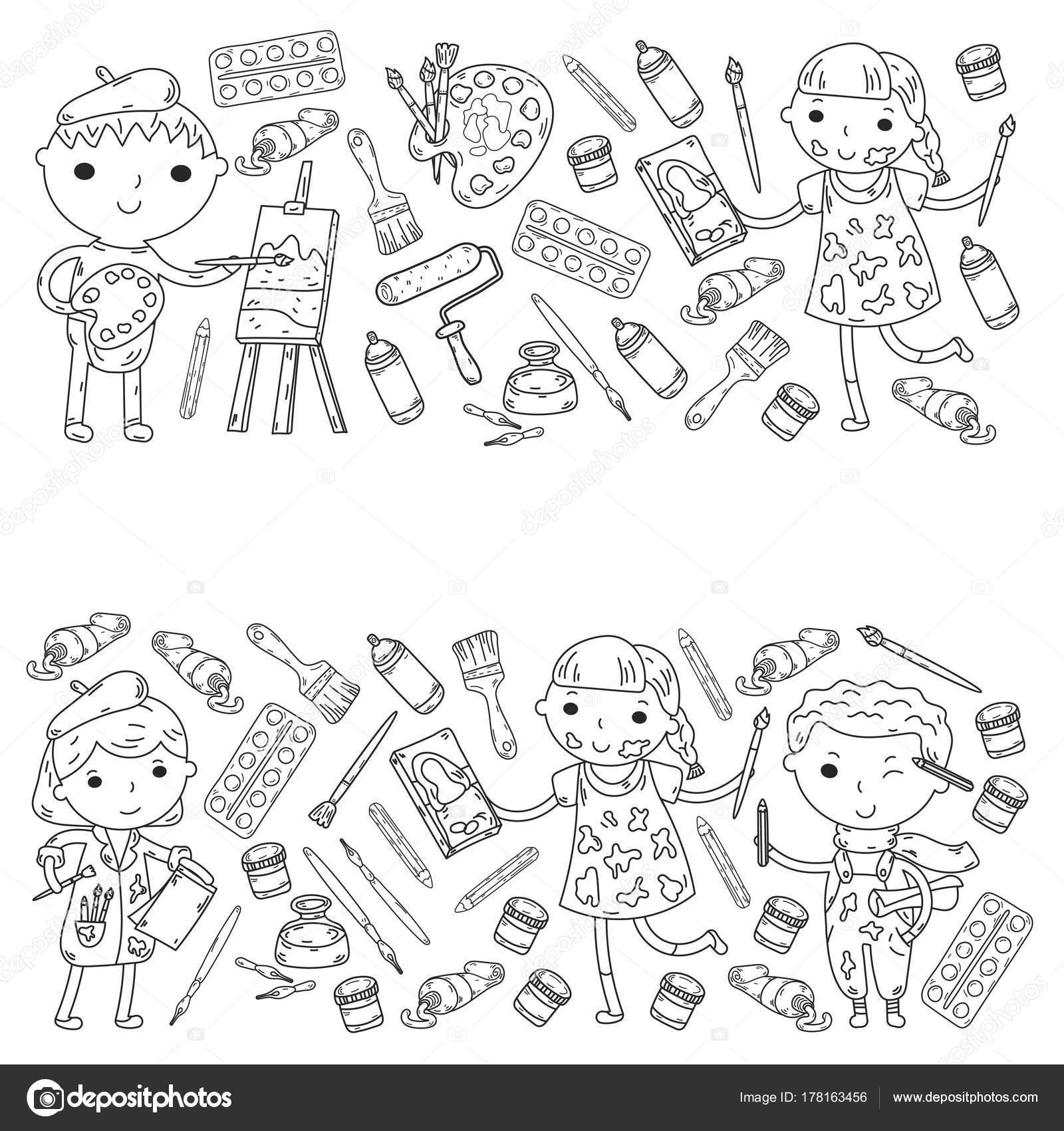 Dibujos Ninos Y Ninas Para Pintar Creatividad De Los Ninos
