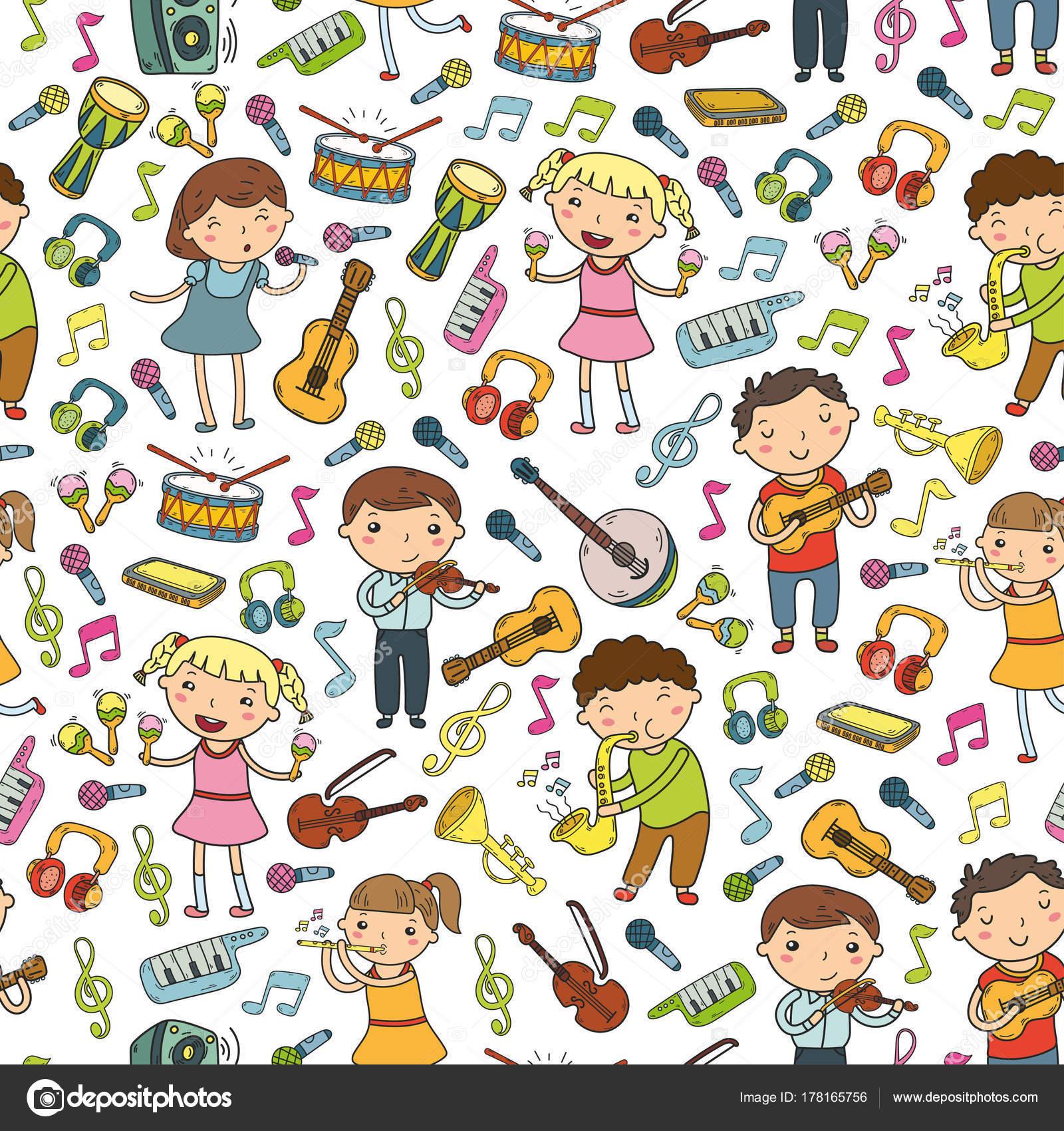 Scuola Di Musica Per I Bambini Illustrazione Vettoriale