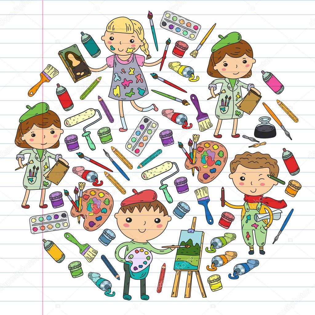 kreativität der kinder kindergarten schule kunst jungen