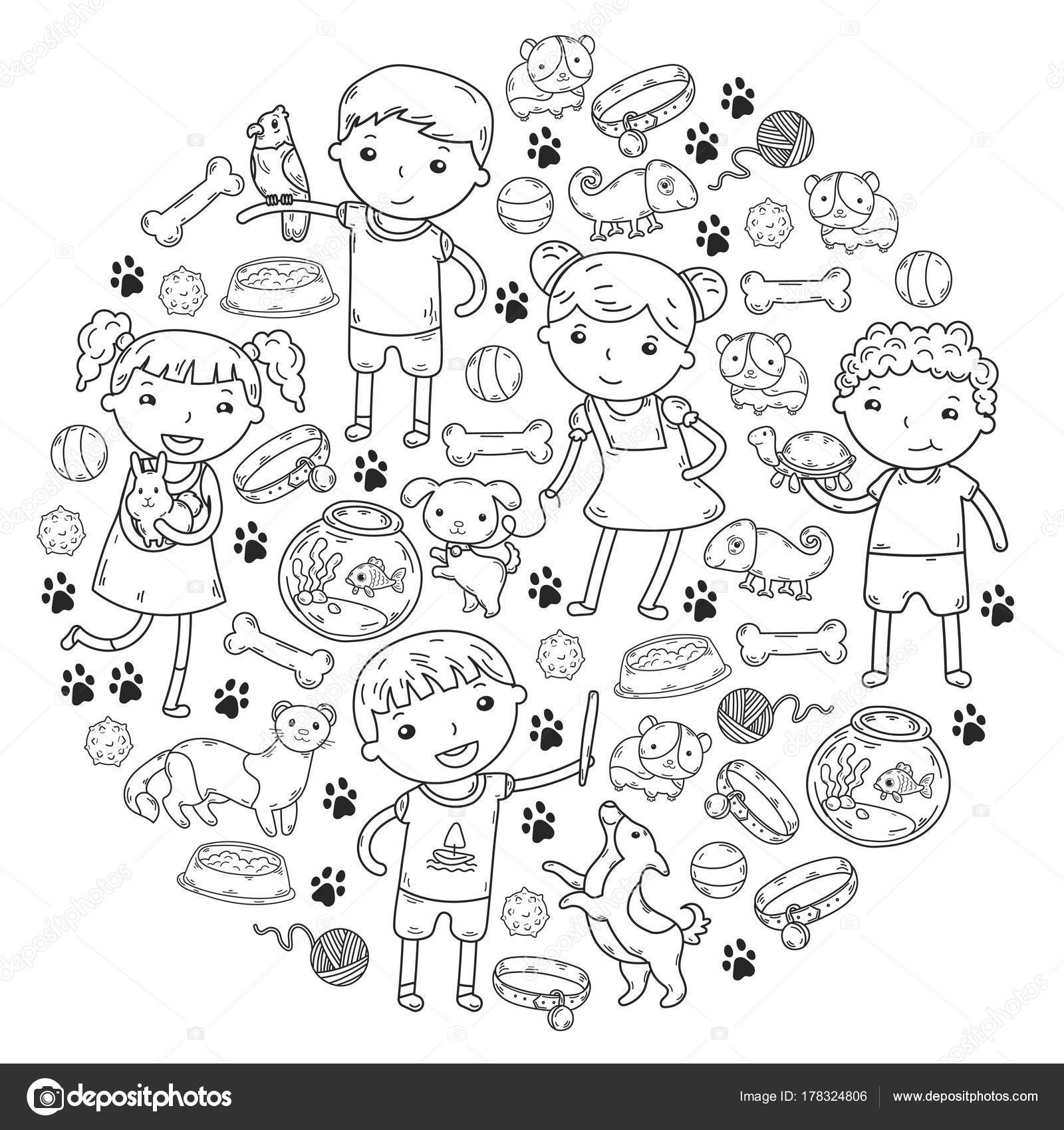 Parque zoológico de los niños Pet shop veterinario Kinder niños con ...