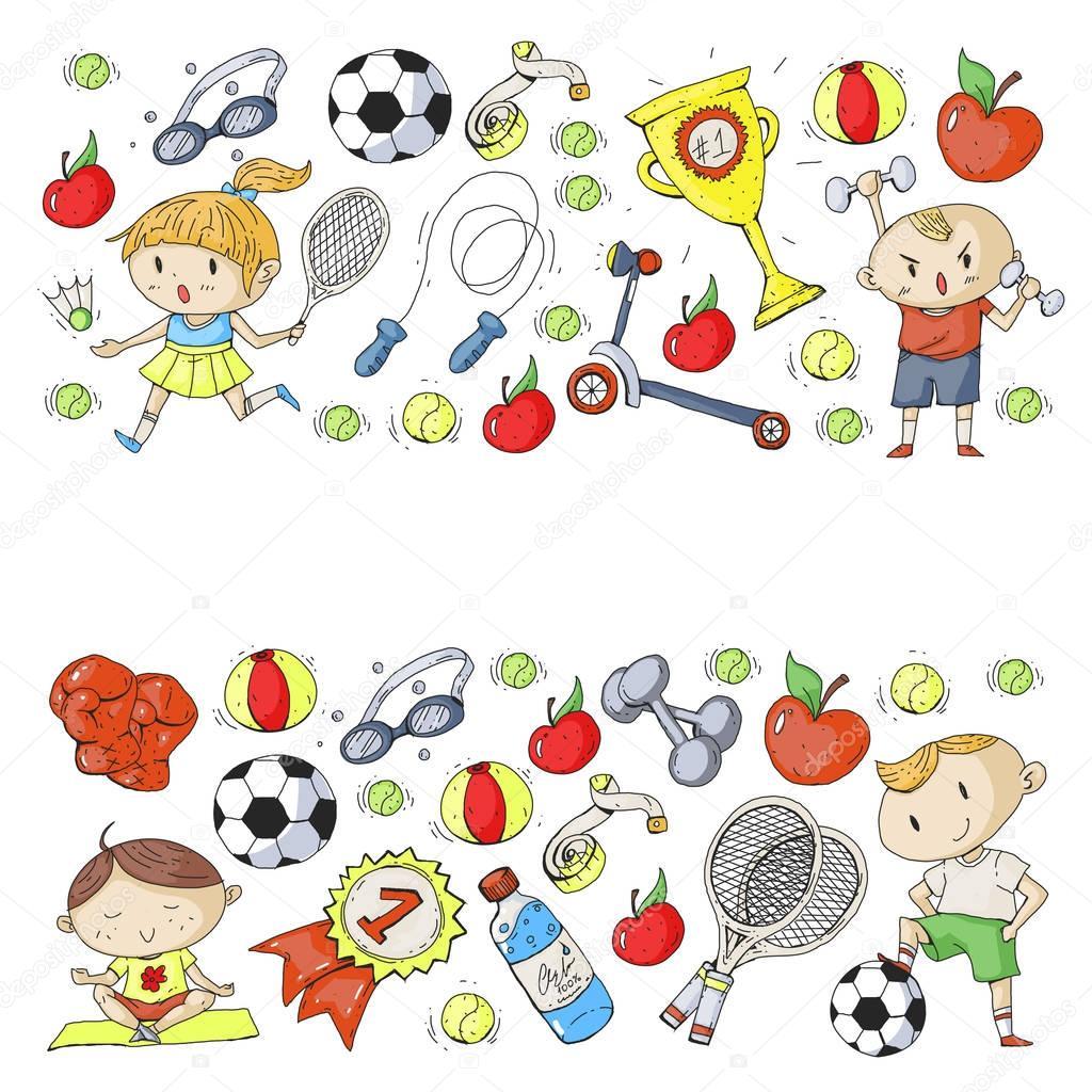 kinder sport kinder zeichnen kindergarten schule hochschule vorschule fu ball fu ball. Black Bedroom Furniture Sets. Home Design Ideas