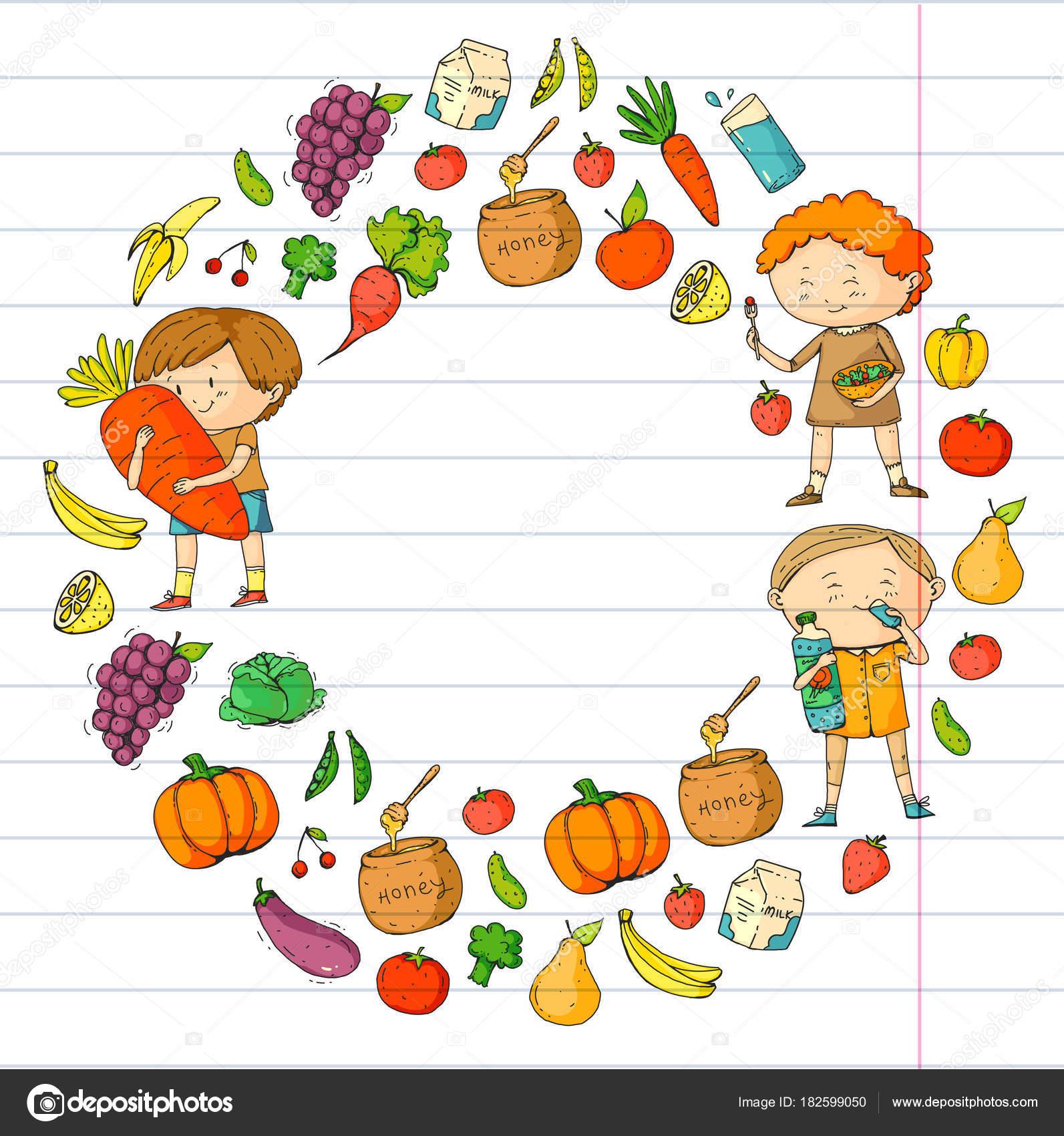 Dzieci Szkola I Przedszkole Zdrowe Jedzenie I Napoje Kawiarnia