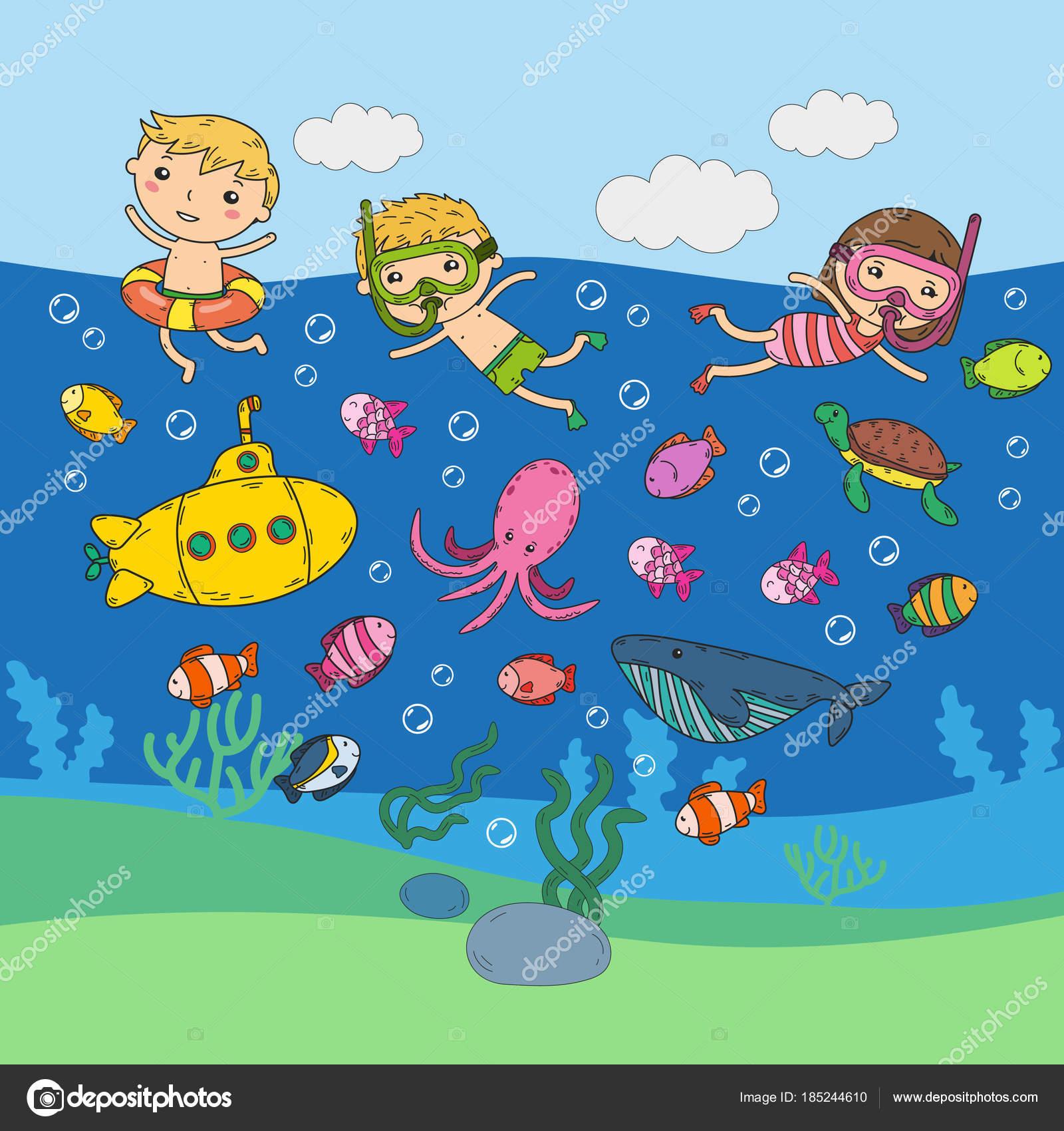 Imágenes Del Agua Animadas Para Niños Bajo El Agua Parque