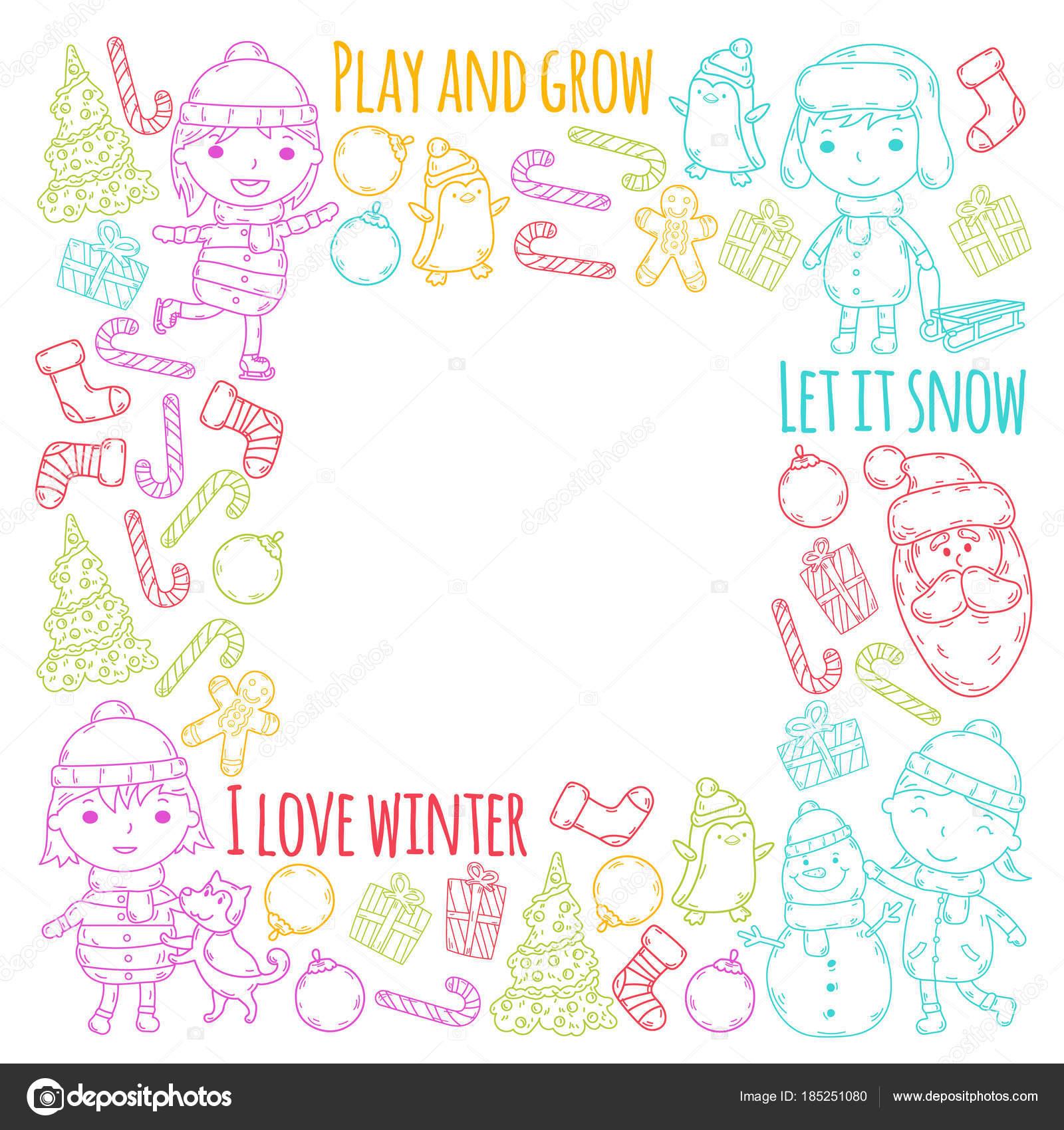Doodle Weihnachtsfeier.Kinder Und Winterspiele Ski Rodel Eislaufen Weihnachtsfeier