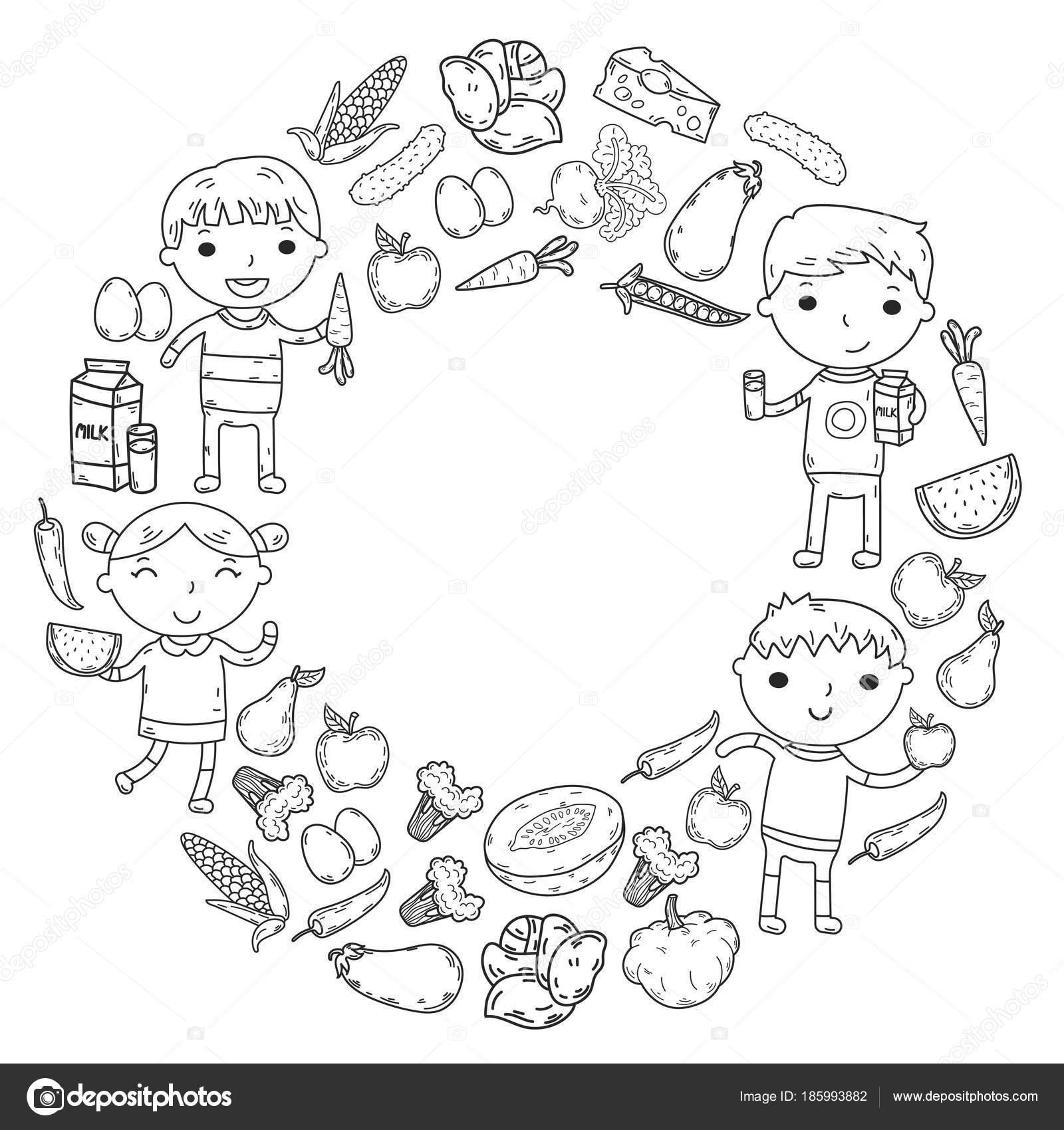 Imágenes Cereales Y Leguminosas Para Colorear Kinder Guardería