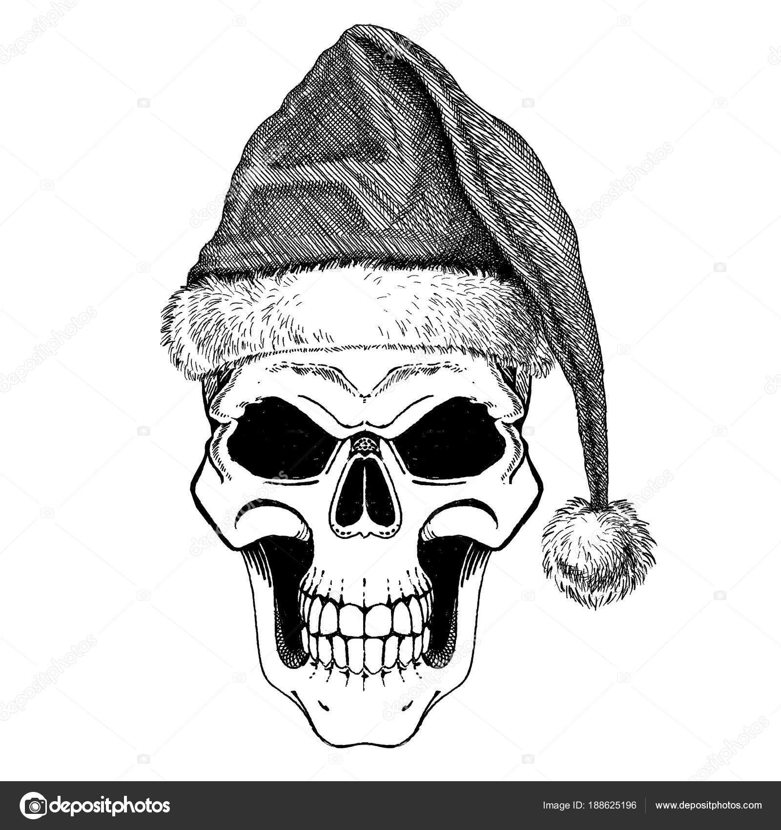 Der Schädel von Santa Claus. Glücklich Rock oder Heavy Metal ...