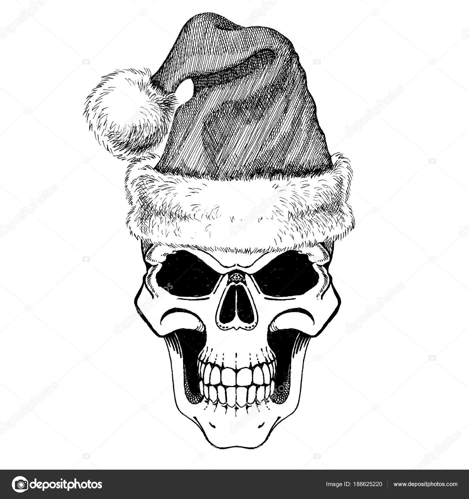 Heavy Metal Christmas.Ihotos Heavy Metal Christmas The Skull Of Santa Claus