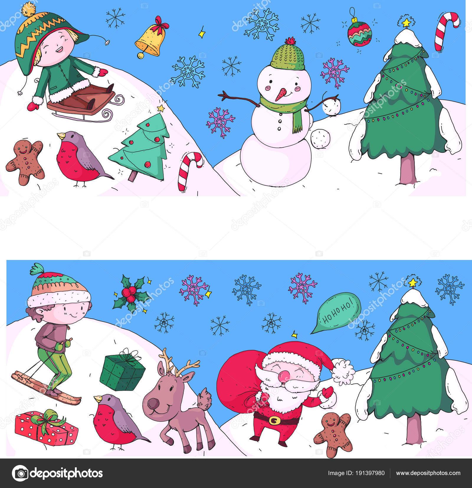 Regali Di Natale Per Bambini Asilo.Natale Festa Di Natale Con I Bambini Disegno Di Illustrazione Con