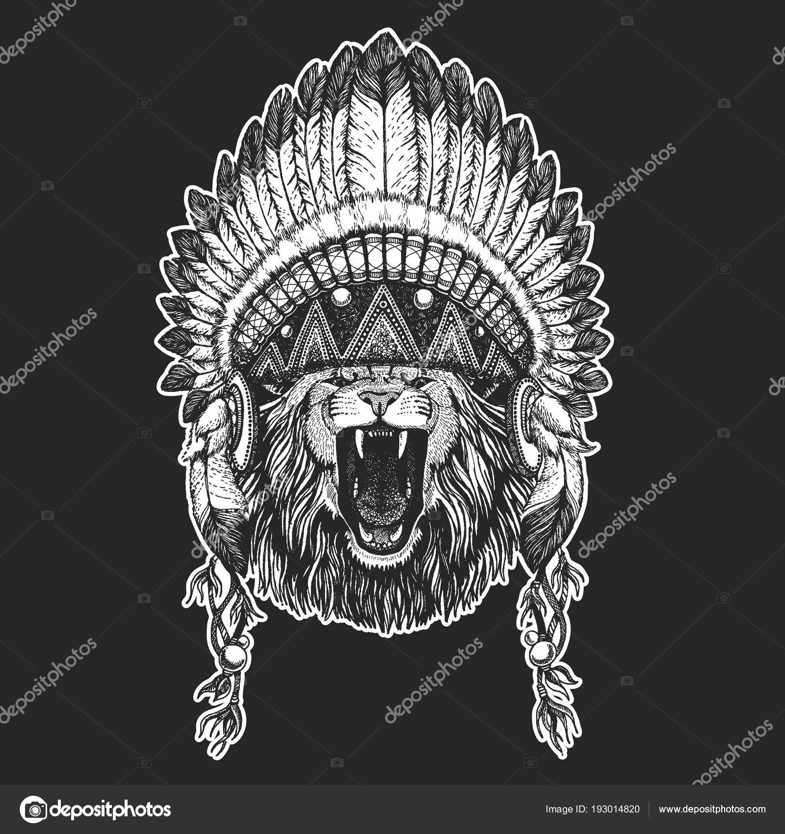 Animal Sauvage De Cool Animaux Port D Amerindienne Coiffe Indienne