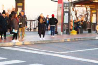 Blurred people at spring at South Korea