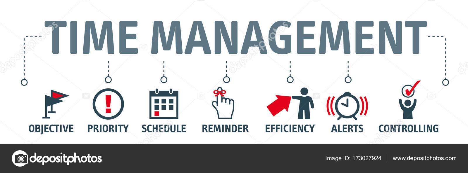 Banner Time Management Stock Photo C Trueffelpix 173027924