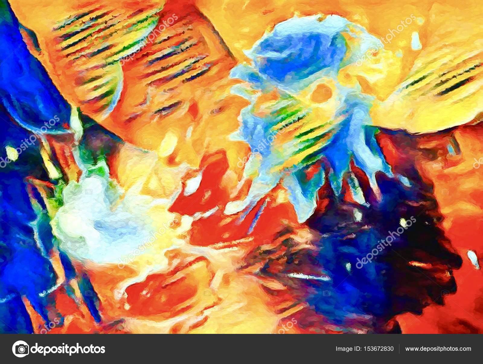 Top Arte moderna. Arte contemporânea. Lona colorida — Fotografias de  KI46