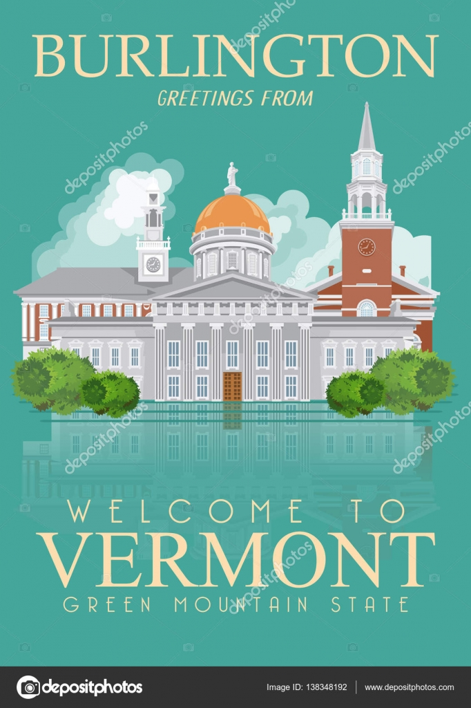 Vermont vector american poster usa travel illustration united vermont vector american poster usa travel illustration united states of america colorful greeting card kristyandbryce Images
