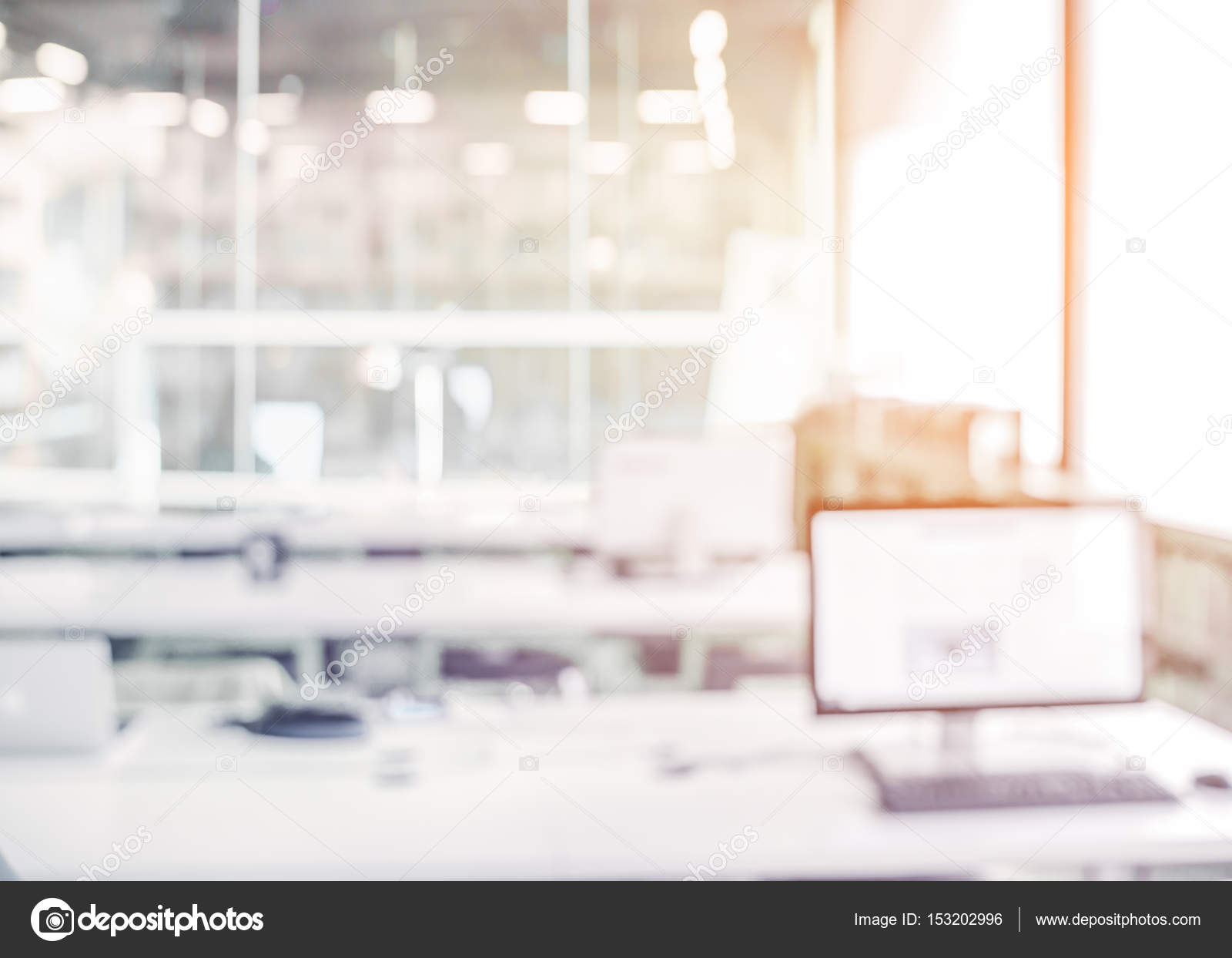 Modern Business Office Blur Background Stock Photo C Jakkapan