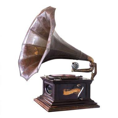 Vintage gramophone isolate