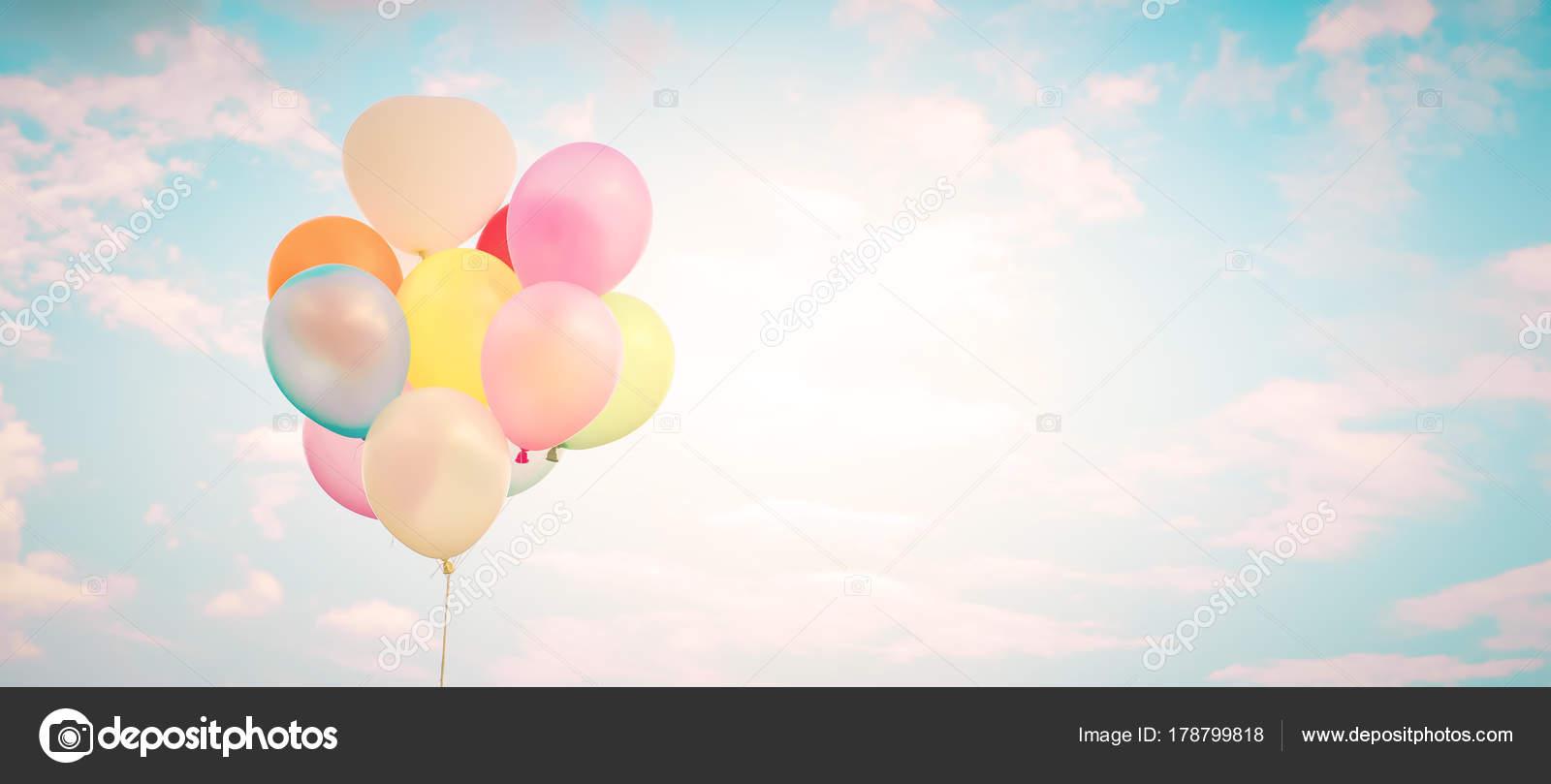 Vintage Mehrfarbigen Ballone Mit Mit Einem Retro Instagram
