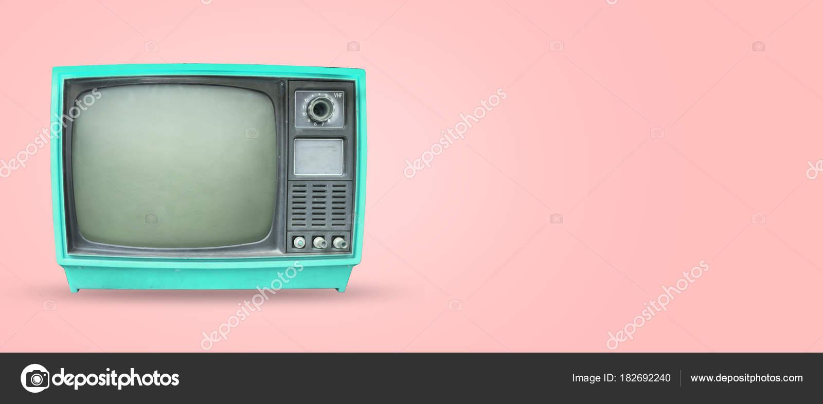 Retro Television Old Vintage Pastel Color Background Retro ...