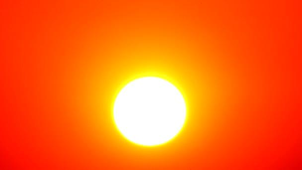 4 k západu slunce obloha oranžová oranžová obloha venkovní letní přírody východ slunce s blýskání a cloud na oranžové obloze