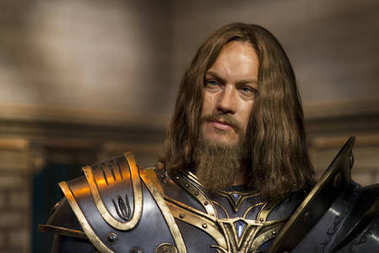 ISTANBUL, TURKEY, DECEMBER 19, 2017: Wax sculpture of Travis Fimmel inside a fantasy armor from Warcraft movie, on display at Madame Tussauds Istanbul.
