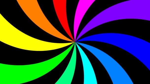 Szivárvány spektrális örvény forog óramutató járásával megegyező, varrat nélküli hurok