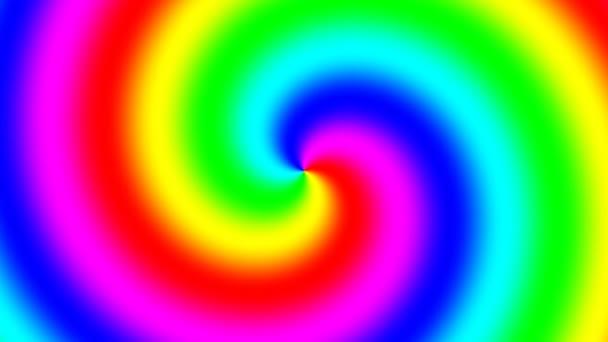 Rainbow spektrální vír otáčí pomalu ve směru hodinových ručiček, bezešvé smyčka