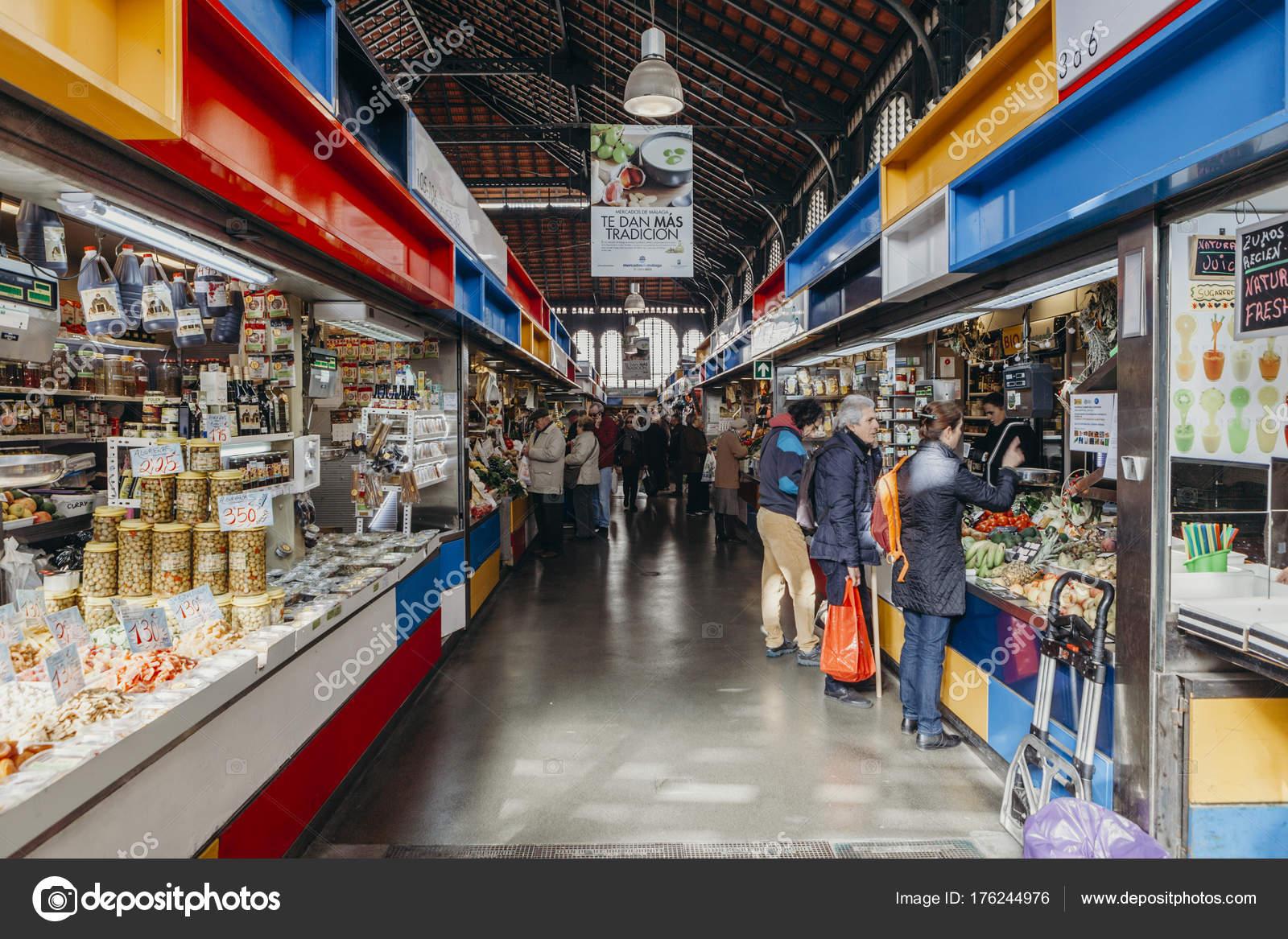 Malaga 05 De Diciembre De 2017 Corredor Interior Vista Mercado De