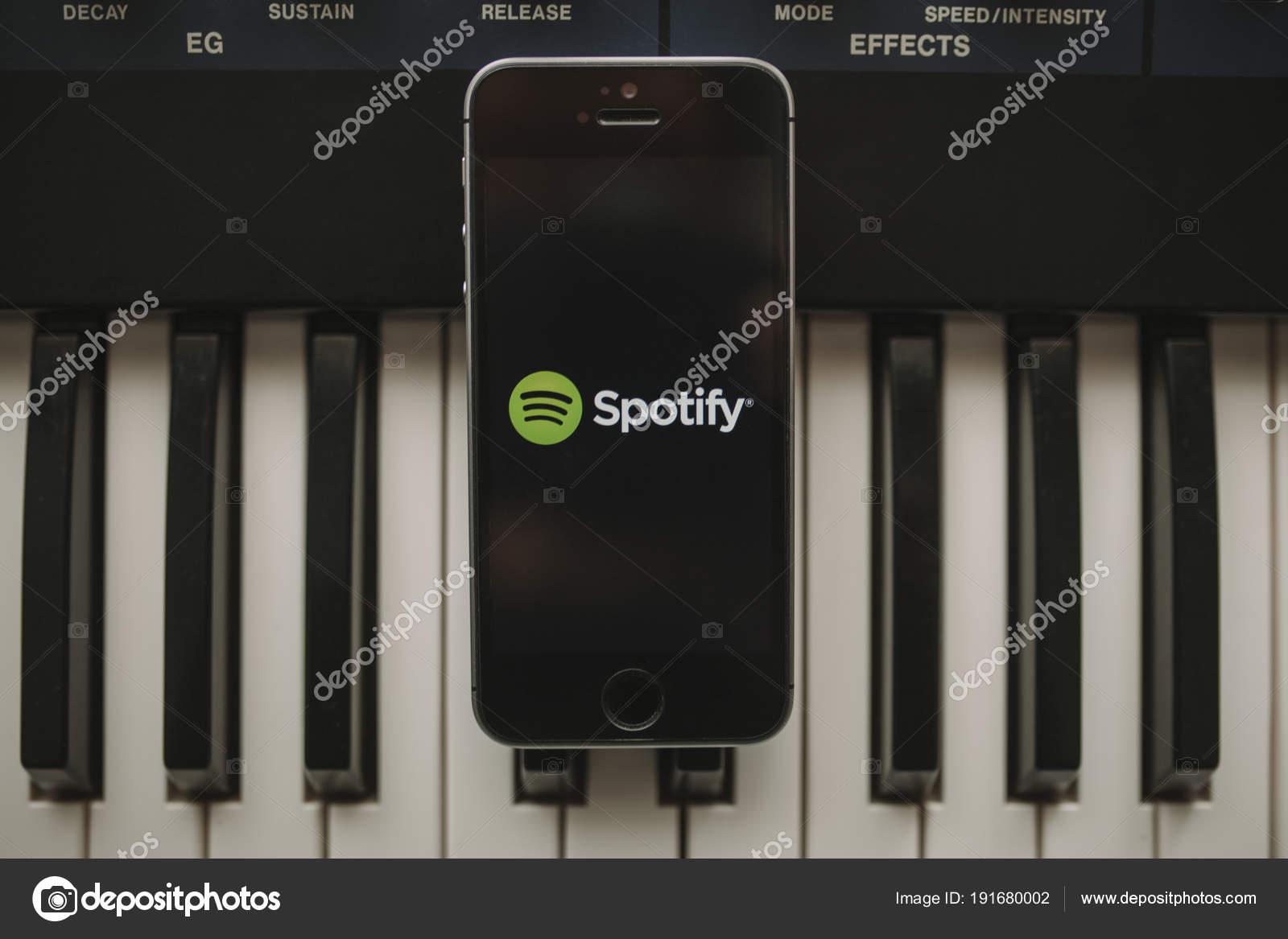 MALAGA, SPAIN - APRIL 12 th, 2018: Spotify Streaming music