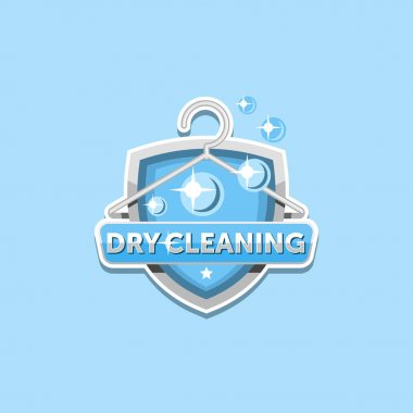 Dry cleaning logo emblem template design clip art vector