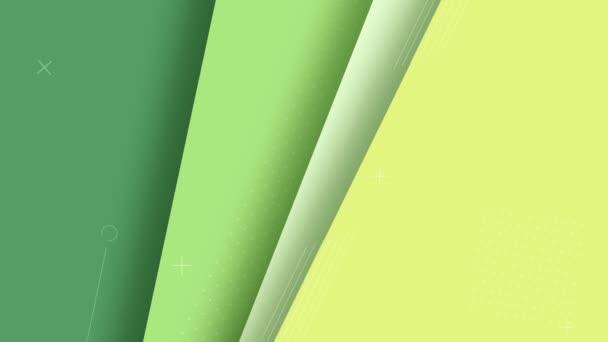 Világoszöld háttér mozgó vonalak, 4K, hurok