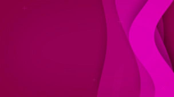 Růžové pozadí s pohybujícími se křivkami, 4K, smyčka