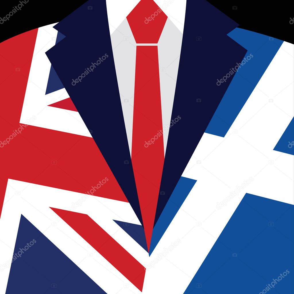Brexit concept british flag scottish flag scottish referendum british flag scottish flag scottish referendum symbol of imminent exit of scotland out of the great britain vector illustration background biocorpaavc Choice Image