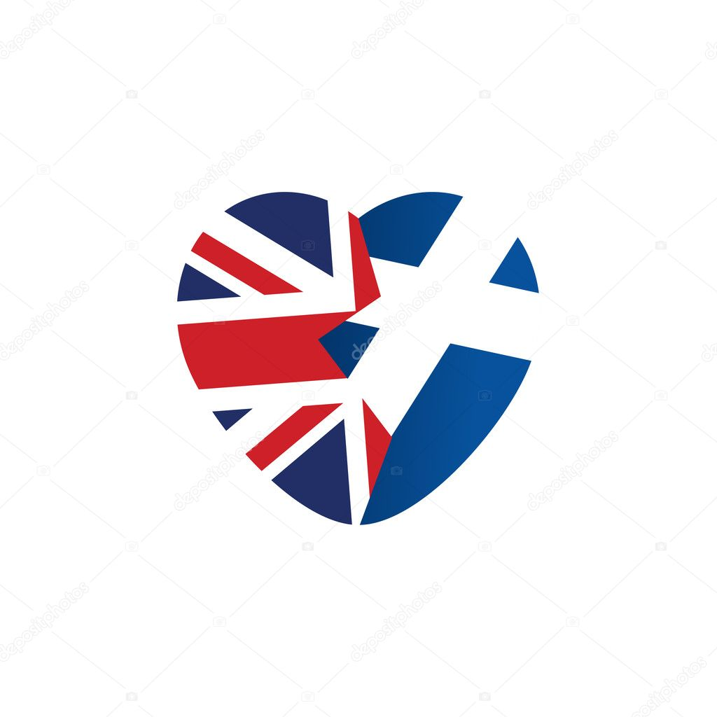 Brexit icon british flag scottish flag broken heart symbol of scottish flag broken heart symbol of imminent exit of scotland out of the great britain vector illustration isolated object vector by tabitazn buycottarizona Image collections