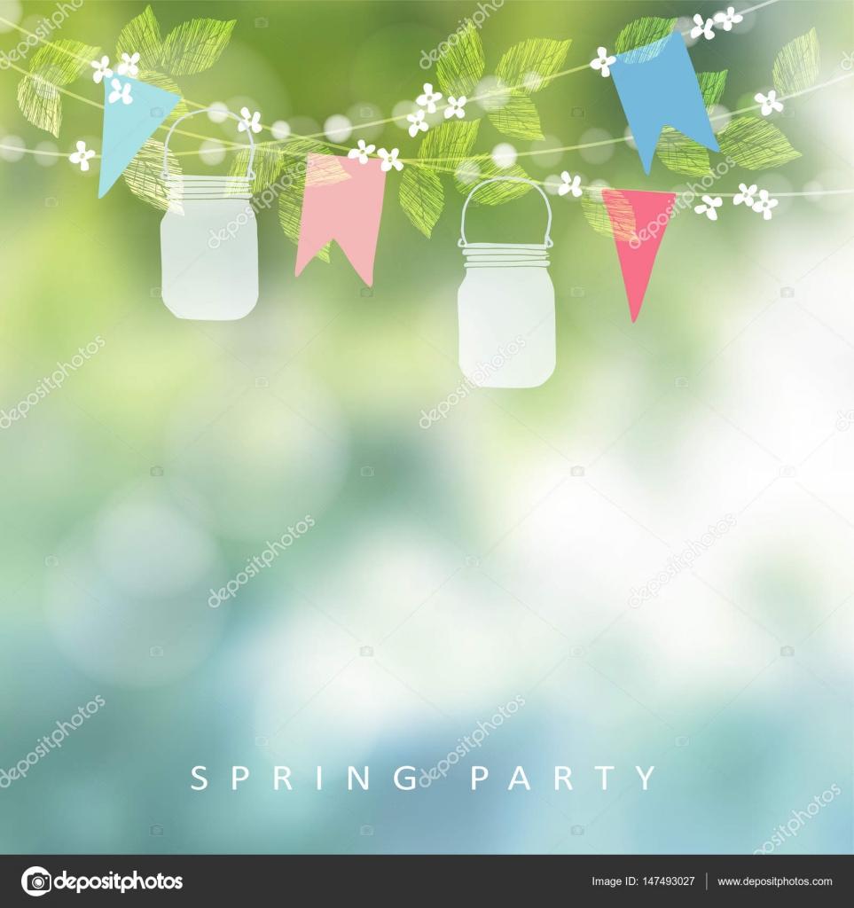 Jardim Festa Ou Festa Junina Saudação Cartão De Aniversário Convite