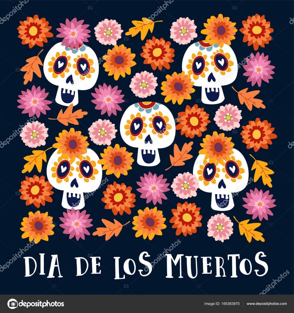 Fondo Catrina Mexicana Dibujo Día De Los Muertos O Halloween