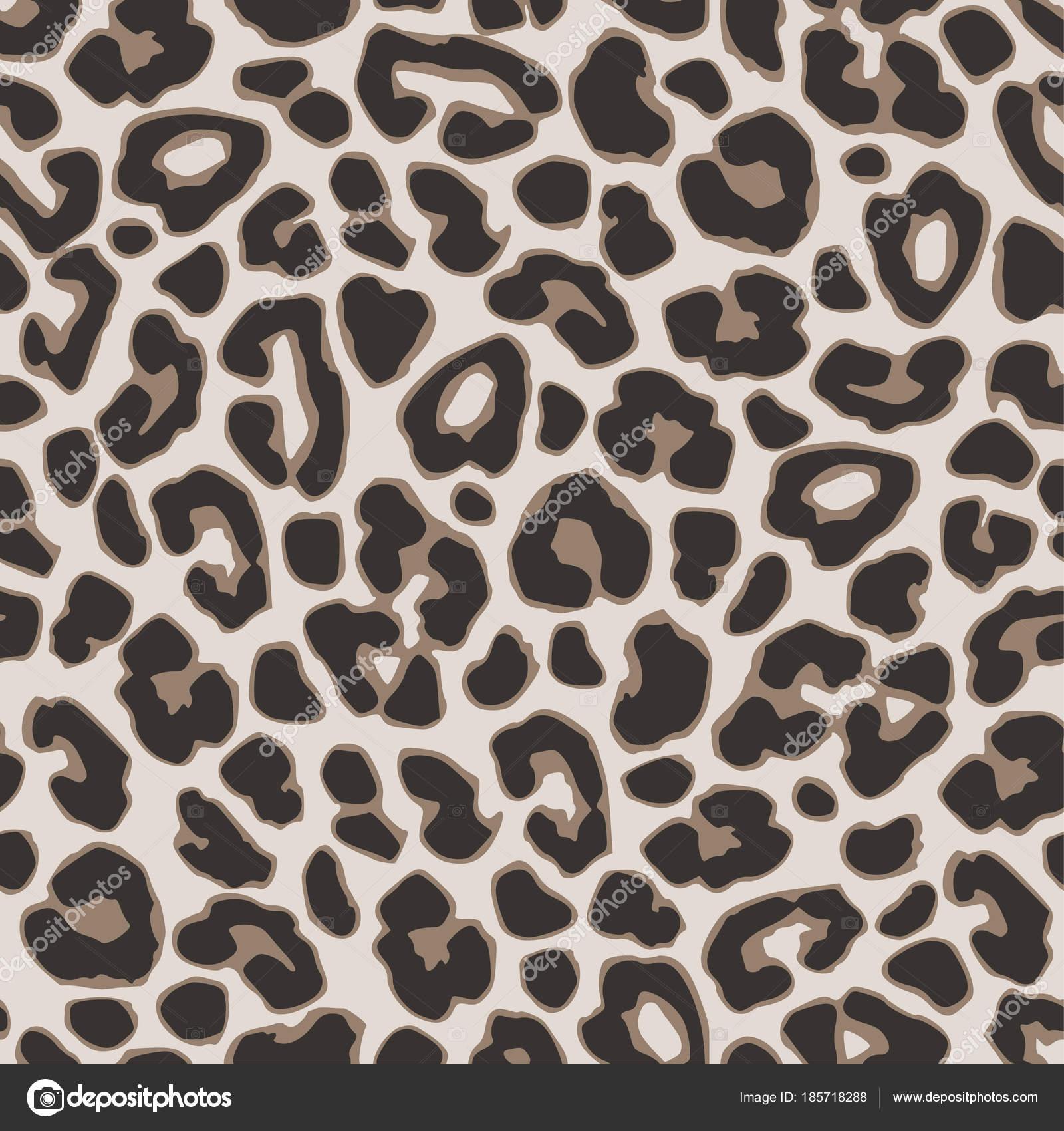 Marrón de patrones sin fisuras leopardo o jaguar. Diseño moderno de ...