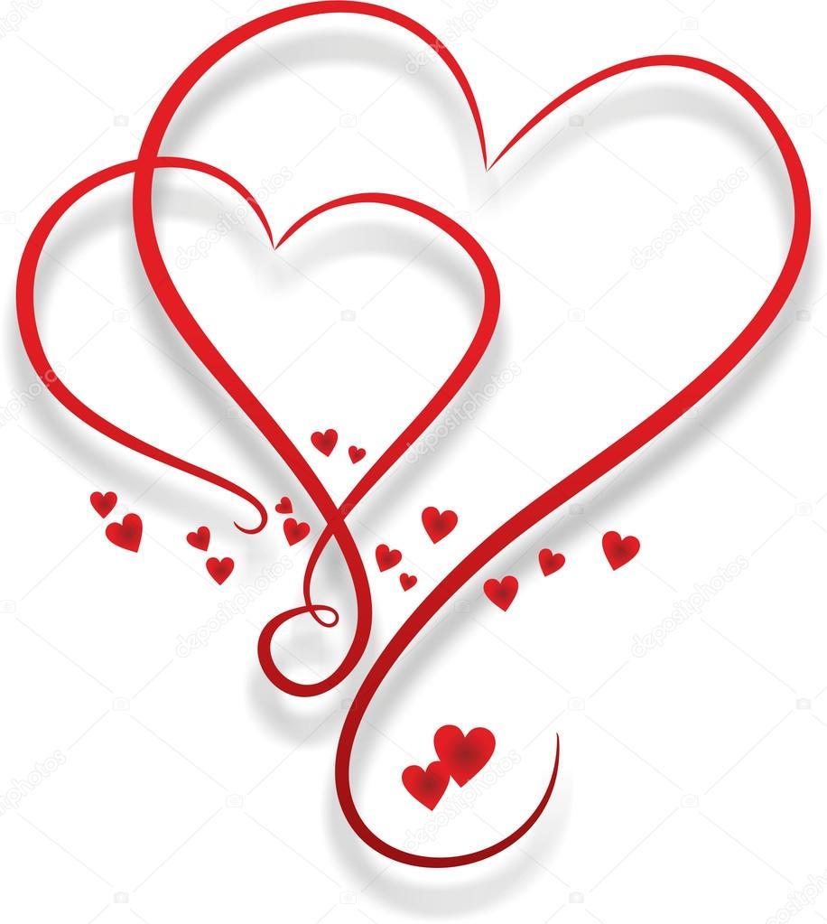 Zwei Verschlungenen Herzen Stockfoto Fffranzzz 125273738