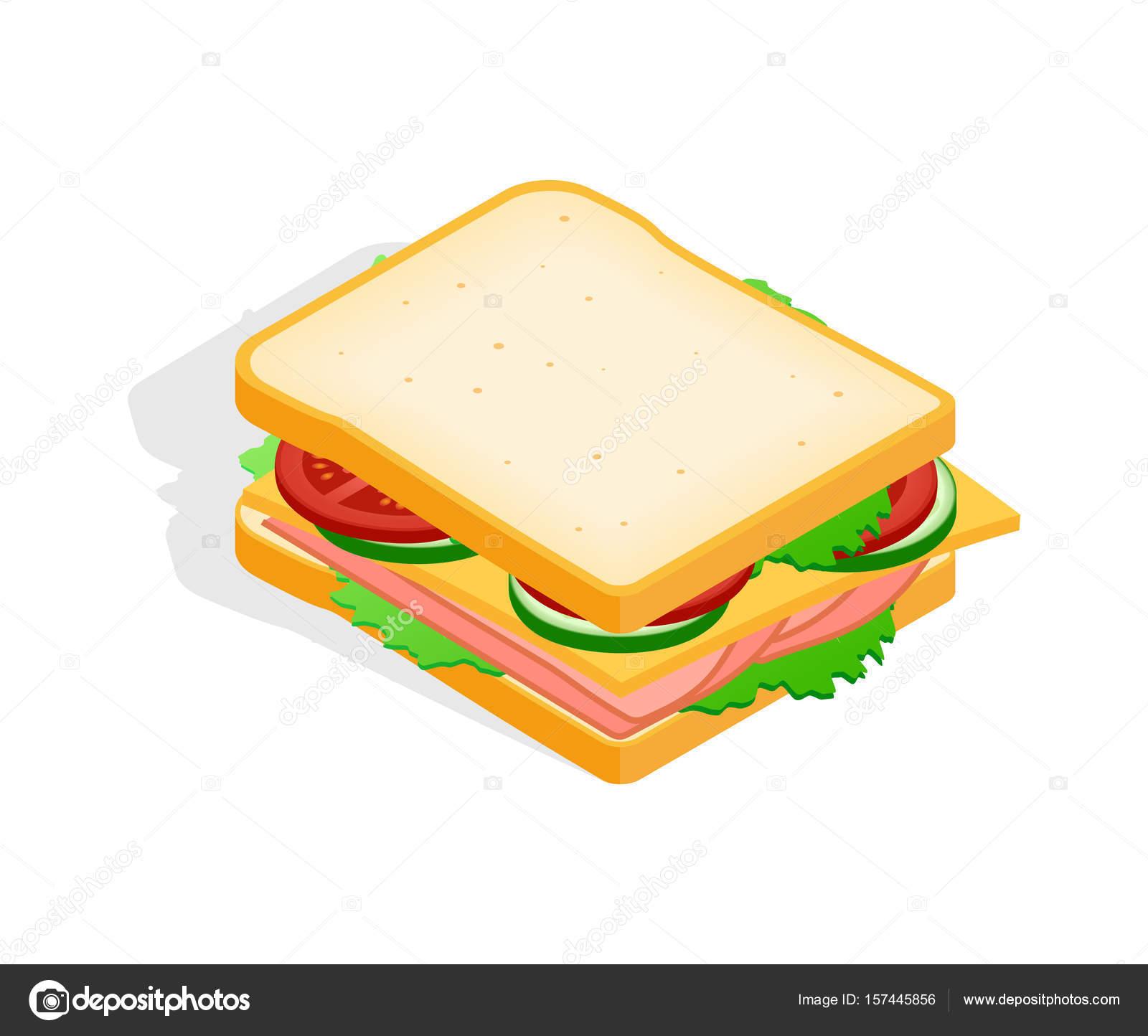 Colorful Icon Of A Sandwich Stock Vector C Kalen 157445856