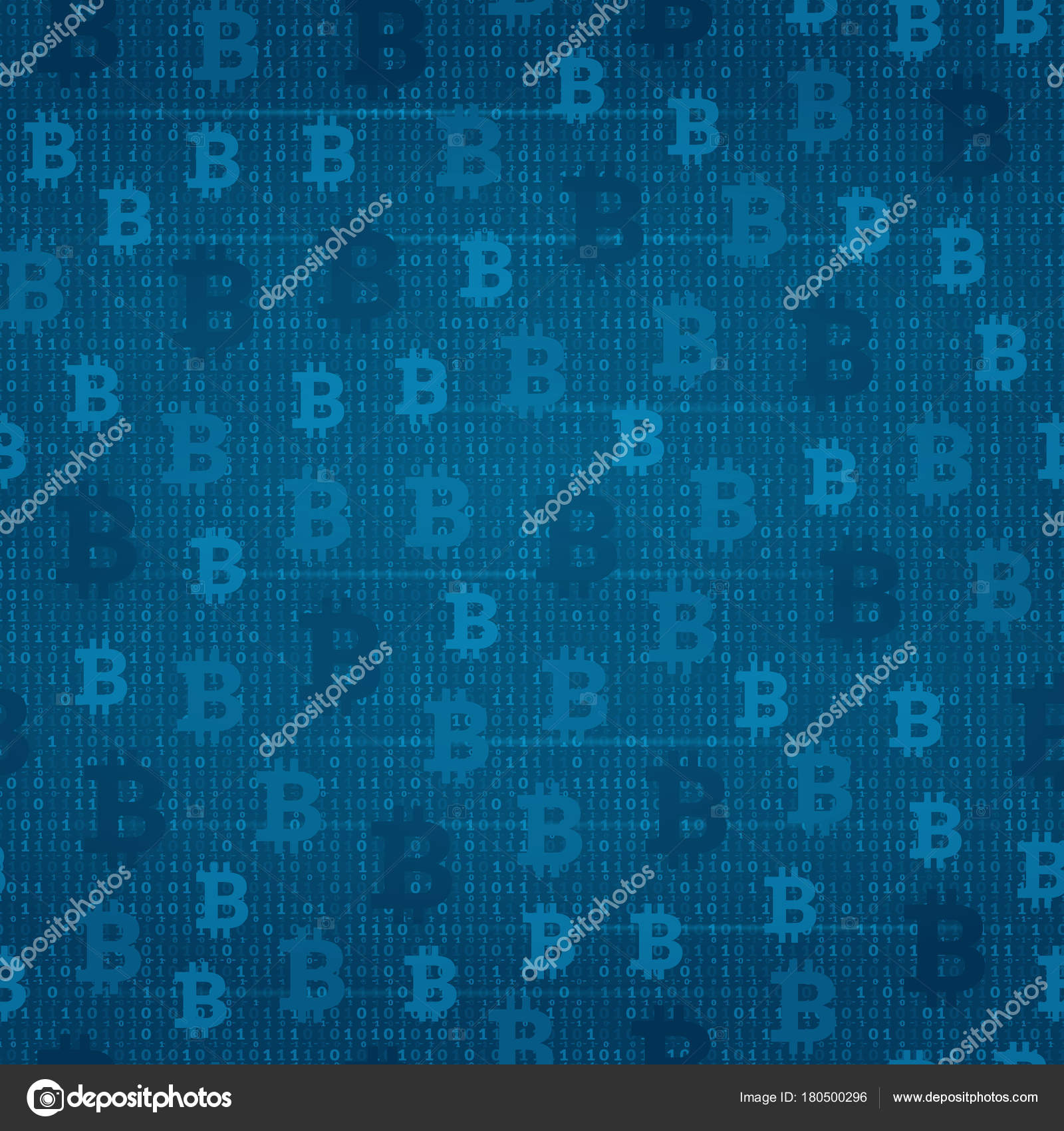 Seamless Pattern Bitcoin On The Background Of Program Code Stock Abstact With Circuit Board And Binary Images Vector