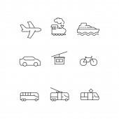 Fotografie Vektor Transport Symbole auf weißem Hintergrund